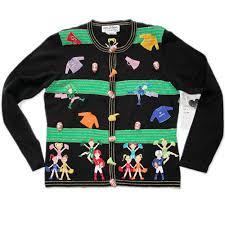 Jack B Quick Football Cheerleader Marching Band Tacky Ugly Sweater ...