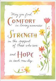 Comfort Strength Hope Sympathy Card Su215