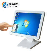 15 inch resolution 1024x768 white metal case all in one pc desktop computers touch screen table