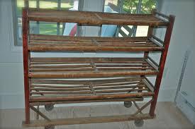 vintage wooden shoe rack like this item vintage factory shoe rack vintage industrial baker s shoe rack antique shoe drying rack maple