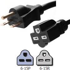 nema 6 15 extension power cords 15a 250v 14 3 awg cable nema 6 15 extension cords