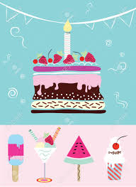 Cake Cupcakes Ice Cream Collection Of Cute Funny Birthday