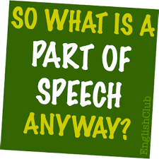 Parts Of Speech Grammar Englishclub