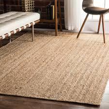 astonishing jute rug nuloom handmade eco natural fiber chunky loop 8 6 x