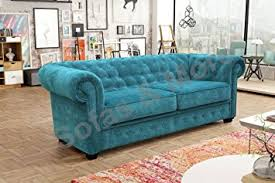 chesterfield sofa bed. Brilliant Chesterfield Chesterfield Style Sofa Bed Venus 3 Seater 2 Fabric Turquoise Settee  2seater Ocean For Bed S