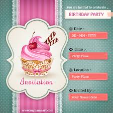 Party Invitation Generator Create Birthday Party Invitations Card Online Free