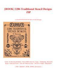 2286 Traditional Stencil Designs Pdf Book 2286 Traditional Stencil Designs Zip
