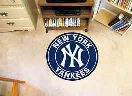 new york yankees logo roundel mat 27