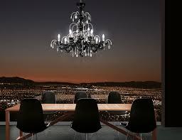 nella vetrina leucos couture l8 modern italian chandelier in black crystals