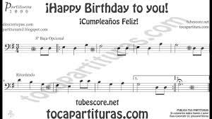 happy trombone sheet music happy birthday to you sheet music in bass clef for trombone cello