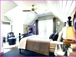 attic bedroom with slanted walls design