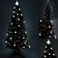 White Fibre Optic Christmas Tree 4ft  Christmas Lights DecorationBlack Fiber Optic Christmas Tree