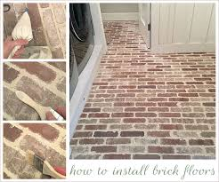 tile flooring that looks like brick. Delighful Brick How To Install Thin Brick Floor For Tile Flooring That Looks Like Brick