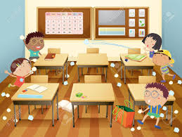 kids at classroom table. illustration of kids in a classroom stock vector - 13988320 at table