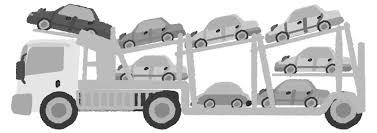 キャリアカーイラスト 車を運ぶ車の乗り物無料素材 チコデザ