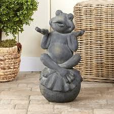 zen frog garden statue