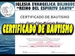 Certificado De Bautismo Template Certificado De Bautismo En Agua Cristiana Plantilla Psd Graficos Global