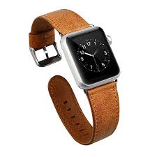 apple watch genuine leather band light brown