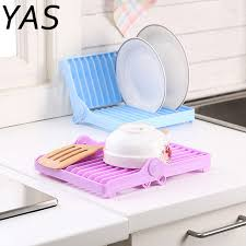 Plate drying rack Stainless Steel Yas Foldable Dish Plate Drying Rack Organizer Drainer Plastic Storage Holder Kitchen Hxp001 Aliexpress Yas Foldable Dish Plate Drying Rack Organizer Drainer Plastic