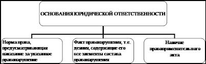 Курсовая работа Юридическая ответственность в России Понятие и Схема 1 Основания юридической ответственности