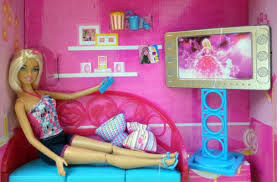 Elegant Barbie Dolls Living Room Kitchen Dollhouse Furniture Set