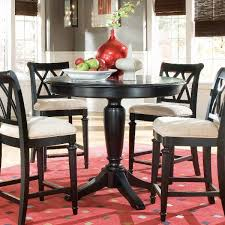 com american drew camden black round counter height pedestal table tables