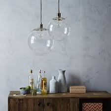 lofty glass globe pendant light clear west elm scroll to previous item uk necklace shade chandelier replacement nz diy