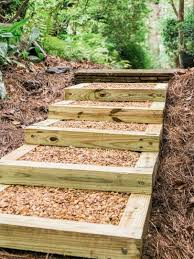 how to build outdoor wood steps how