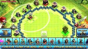 wall level 12 wall level a clash of clans troll base a dragon ball z hybrid