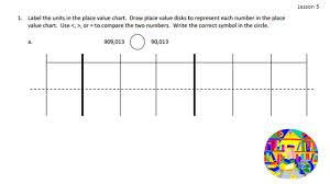 Draw Place Value Disks On The Place Value Chart Topic B Comparing Multi Digit Whole Numbers 4 Nbt 2 Ppt