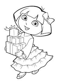 Dora Printable Printable Coloring Pages Sheets For Kids Colouring To