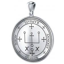 sigil of raphael archangel seal of solomon sterling silver pendant at mystic convergence magical supplies
