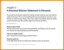 Personal Value Statement Examples Fascinating 48sample Personal Mission Statements Statement Letter
