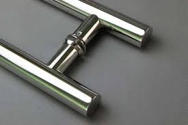 customized stainless steel round commercial glass door pull handle