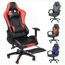 nice office chairs uk. Executive Office Chair Racing Computer Gaming Backrest 360 Swivel W/ Footrest UK Nice Chairs Uk