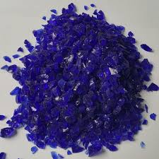 china dark blue terrazzo crushed glass chip for fire pit china tempered glass glass granule