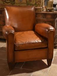 leather club chairs vintage. Vintage French Leather Club Chair For Sale Chairs C