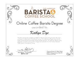 american barista coffee school online diploma kd the american barista coffee school online diploma kd