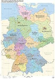 181 085 428 просмотров 181 млн просмотров. B1 Verwaltungskarte Deutschland Bundeslander Regierungsbezirke Landkreise Amazon De Burobedarf Schreibwaren