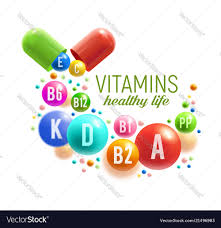 Vitamin Graphic Design Vitamin Pill And Ball Poster Multivitamin Design