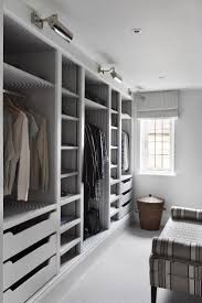 Space Saving Shelves Walk Through Closet To Bedroom White Polished Steel Wall Mounted