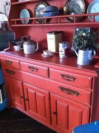 shabby chic red furniture. brick red vintage shabby chic hutch antiquehardwarepainthandpainted furniture c