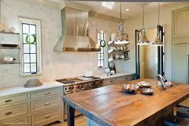white country kitchen with butcher block.  Country Rustic Butcher Block Kitchen Island To White Country With N