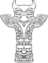 Native American Coloring Pages Free Printable Totem Pole Coloring