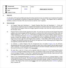 Procedure Note Template Sample Progress Note Template 9 Free Documents Download