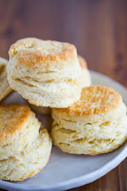 a plate of ermilk biscuits stacked together