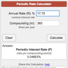 Credit Card Interest Calculator Periodic Interest Rate Calculator
