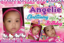 Christening Album Design Sample Tarpaulin And Invitation For Christening And First