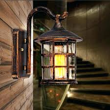 rustic exterior lights country style outdoor wall sconce lamp retro beautiful lighting intended for barn