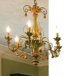 chandeliers gold leaf chandelier carved wood with tassels motif in antiqued pale green and finish